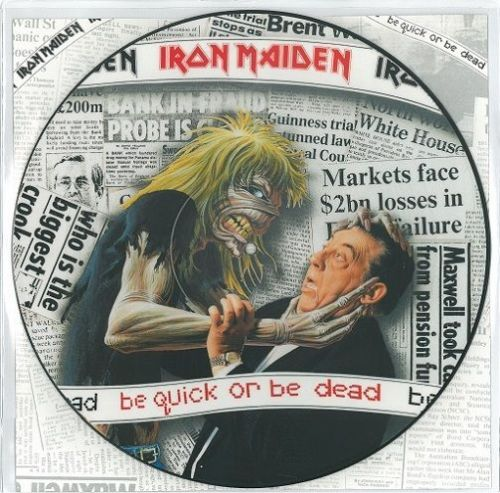 IRON MAIDEN Be Quick Or Be Dead Vinyl Record 12 Inch EMI 1992 Picture Disc